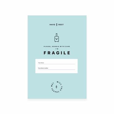 Наклейка на чемодан Fragile